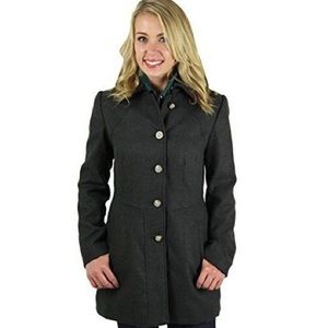 JESSICA SIMPSON Women's Dark Gray  Pea Coat Size S